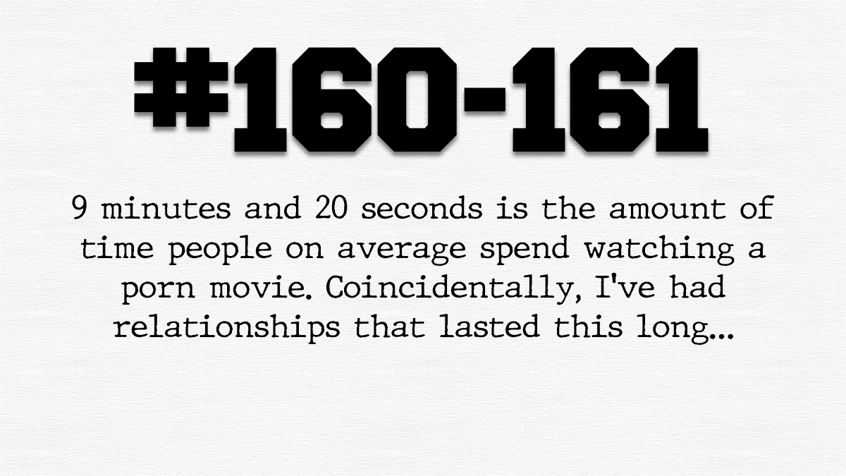 Guy #160 and #161 – 9 minute 20 secondrelationships